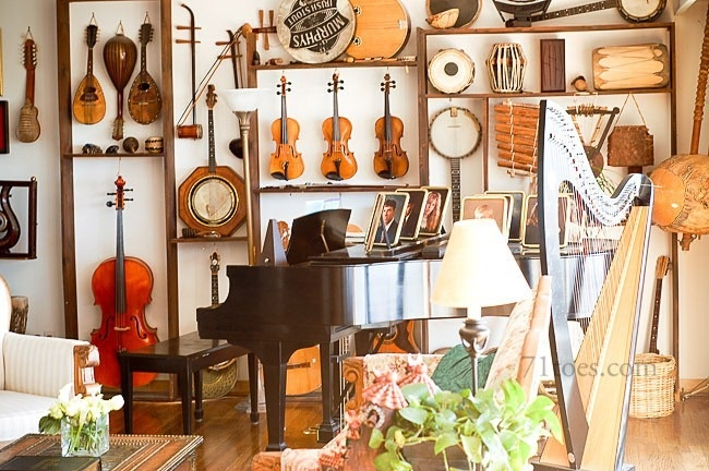 La maison boheme the music room for House music arrangement