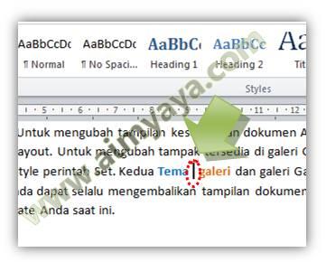 Gambar: Contoh menghapus kata dengan cepat di Microsoft Word
