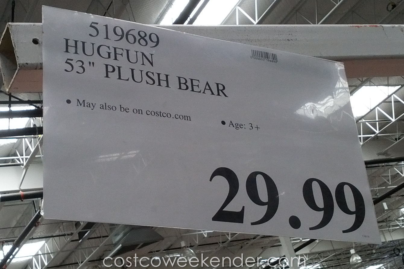 Deal for the Hugfun 53-inch Stuffed Teddy Bear at Costco