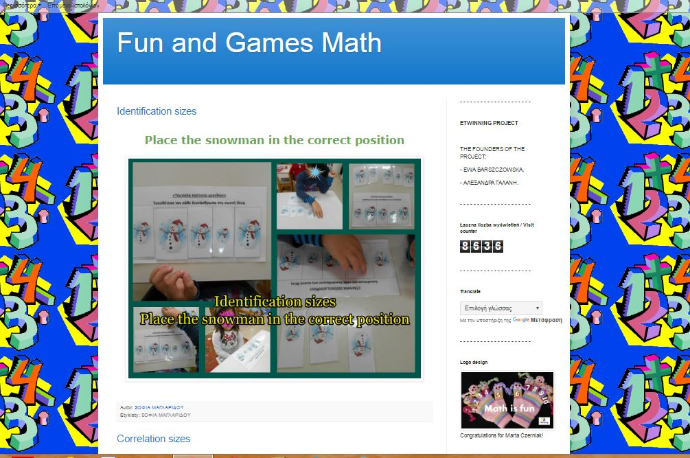 eTwinning 'Fun and Games Math""
