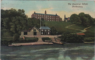 Vintage postcard of The Grammar School, Shrewsbury, Shropshire, c.1918