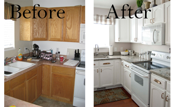 A few of my favorite things living room kitchen before after - Remodeling a small kitchen before and after ...