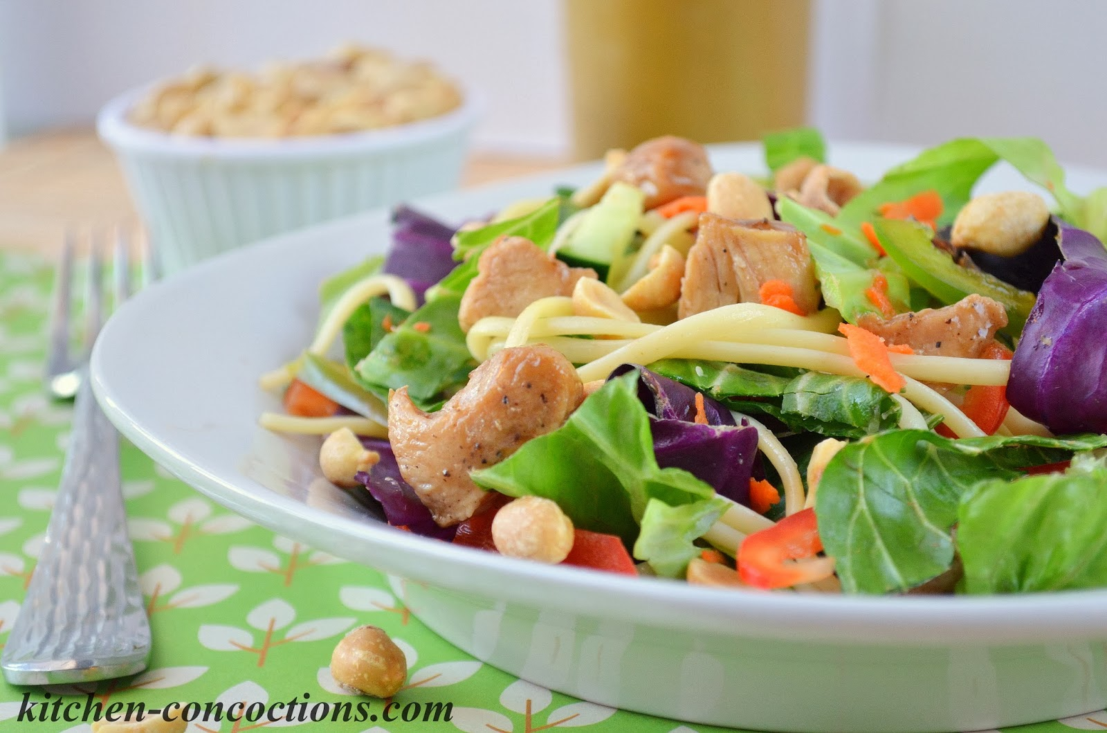 Thai Chicken and Noodle Salad with Homemade Thai Peanut ...