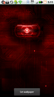 Red Droid Eye x2 Live Wallpaper