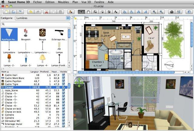 Freeware  Software Gratuito: Sweet Home 3D  Desenho de interiores