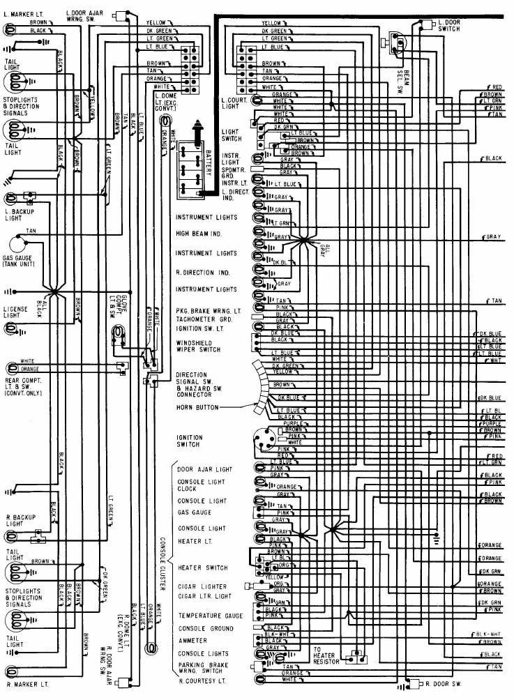 1968+Chevrolet+Corvette+Wiring+Diagram 1968 camaro wiring diagram diagram wiring diagrams for diy car 1968 corvette wiring diagram free at nearapp.co