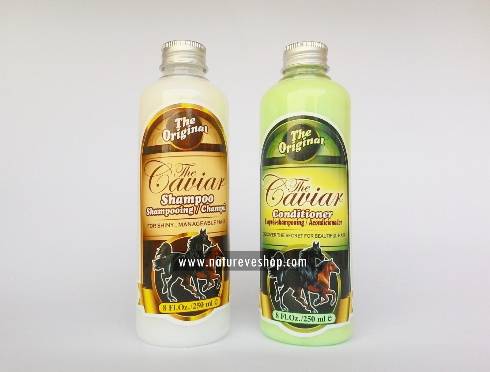 Shampoo and Conditioner Caviar Perawatan Kulit Kepala dan Rambut