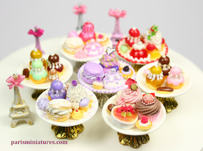 Miniature French Cakes & Pastries