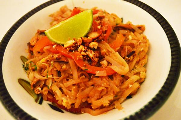 Asian mushroom pad thai