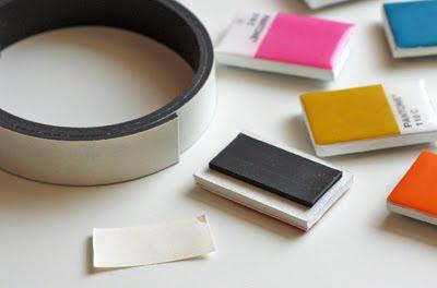 mini polaroid magneten selber machen. Black Bedroom Furniture Sets. Home Design Ideas