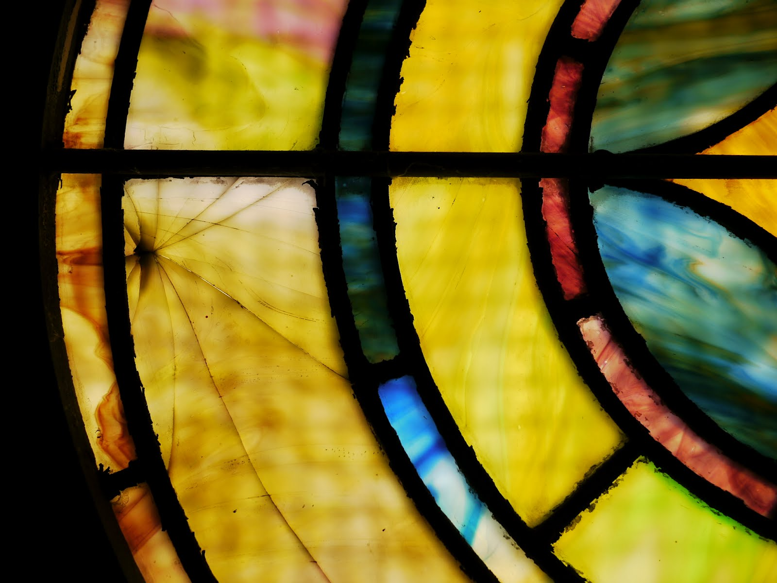 Stained-glass window (detail)