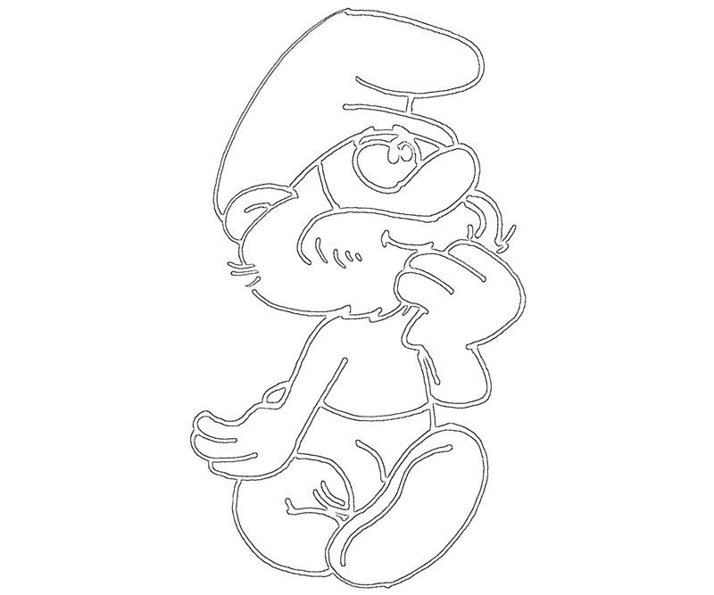 #19 Papa Smurf Coloring Page