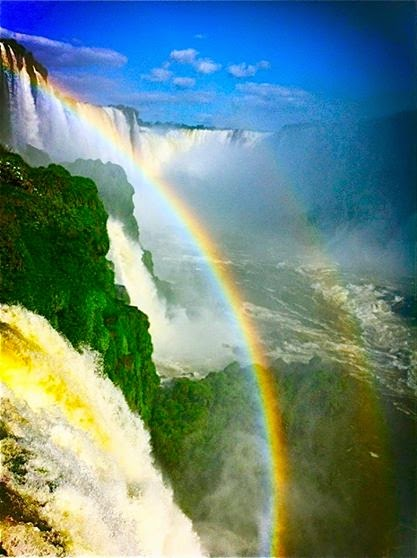 Rainbows over Iguazu Falls