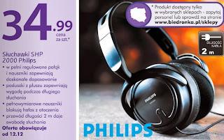 Słuchawki SHP 2000 Philips z Biedronki ulotka