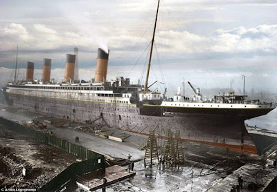 Beginilah Kemegahan Kapal Titanic dalam Foto Berwarna