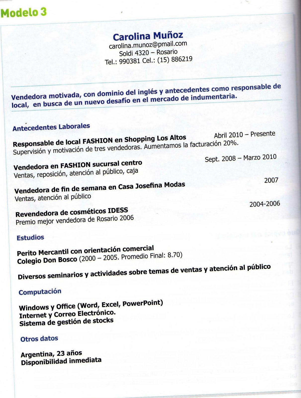 ADOLESCENTES POSMODERNOS: PREPARA TU C.V.