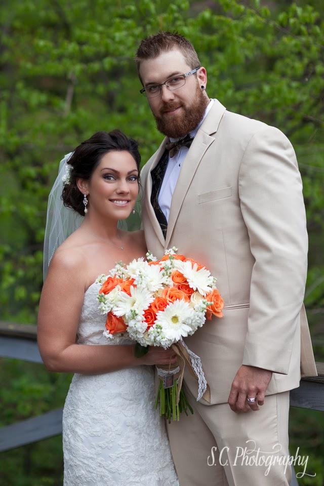 bride and groom portraits michigan