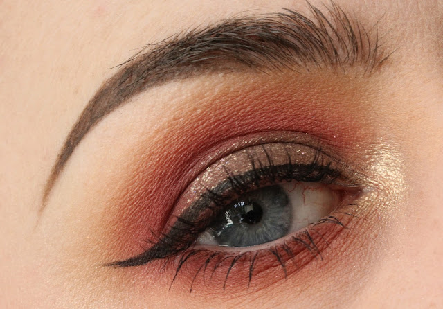 Red smokey autumnal look with Makeup Geek