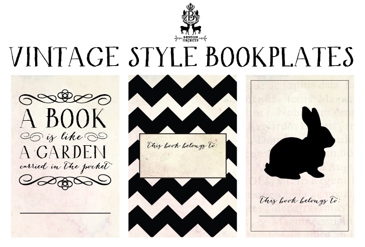 Monster image in free printable bookplates
