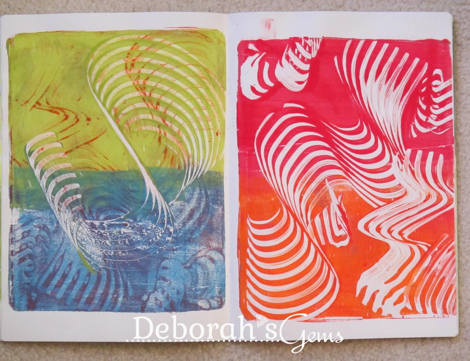 Gelli Journal 3 - photo by Deborah Frings - Deborah's Gems