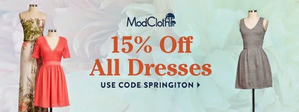 Modcloth Spring Dress Sale