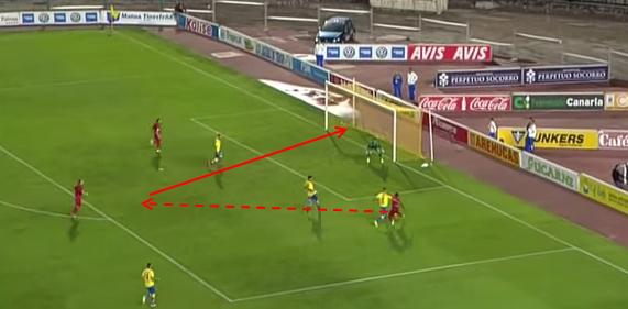 Jugada gol de Cedrick3