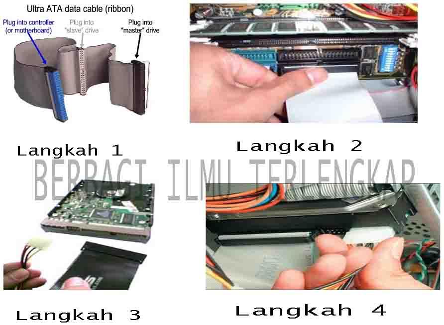 memasang kabel IDE hardisk