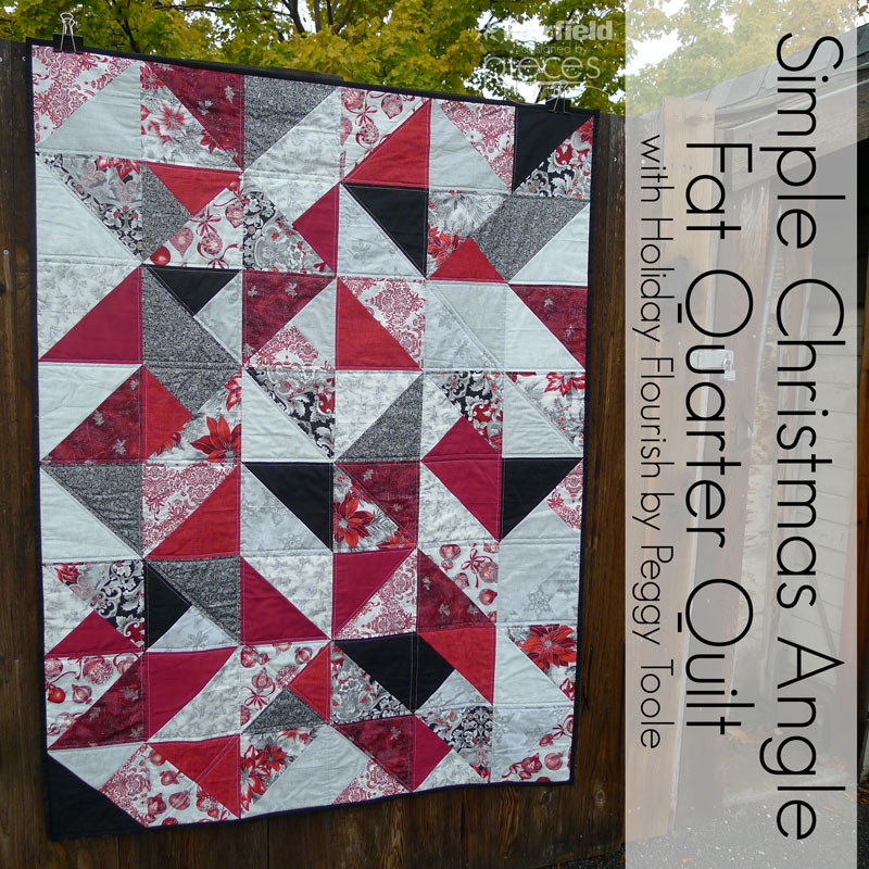 Pieces by Polly: Simple Christmas Fat-Quarter Quilt - Free Pattern ... : fat quarters for quilting - Adamdwight.com