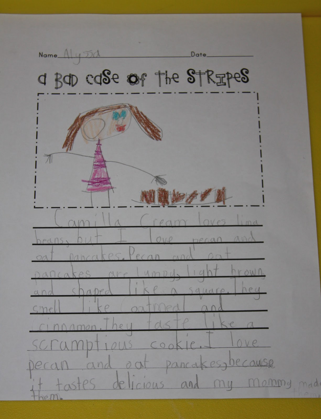 A Learning Journey A Bad Case of Stripes Writing – A Bad Case of Stripes Worksheets