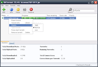 Screenshot  BitTorrent