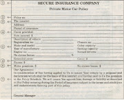 . is the actual legal contract between the proposer and the insured.