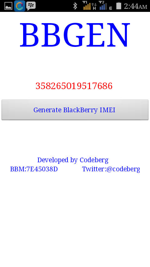 Da Home Of VIBES: Good News:Blackberry IMEI Generator APK now