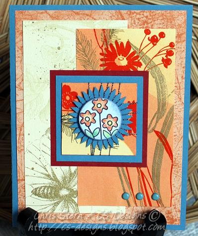 Summer Garden Spirelli Card