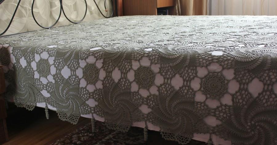 Покрывало на кровать вязание 45