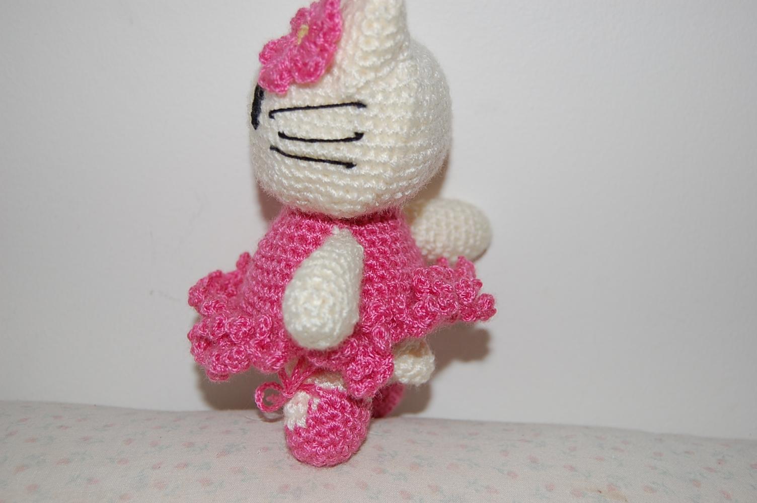 O meu cantinho: Amigurumi, hello kitty bailarina