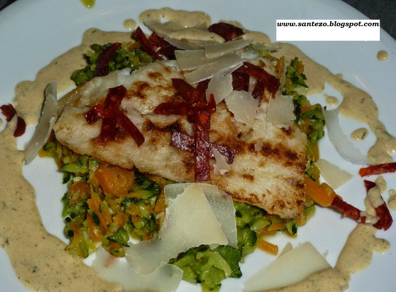 Filets de poisson et bâtonnets de légumes à l'orientale... délicieux