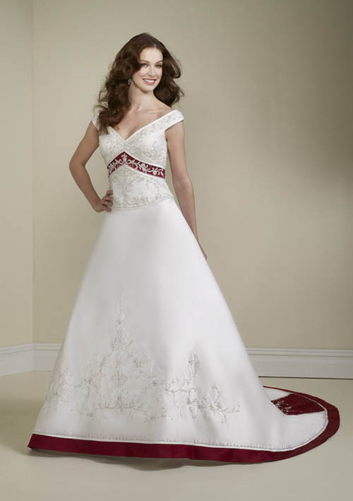 Wedding Dresses White Red And Black 116