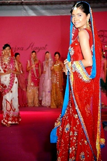 Hajra Hayat Designer Bridal Dress Collection 2014