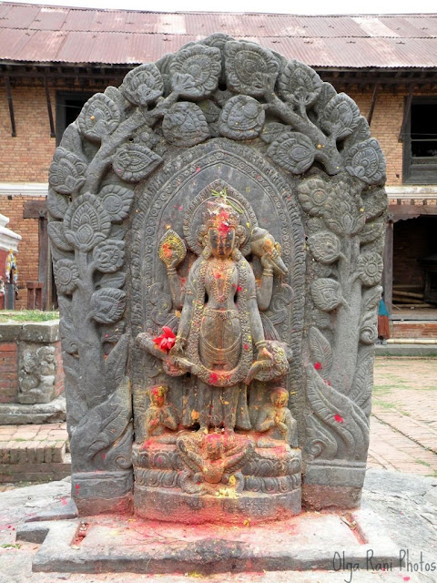 Vishnu sculpture at Changu Narayan temple, Nepal