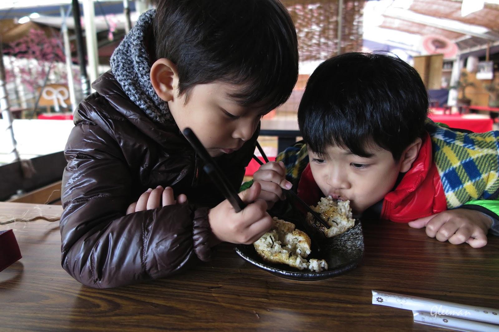 竹子湖甘味坊。喜歡吃日式烤飯團。