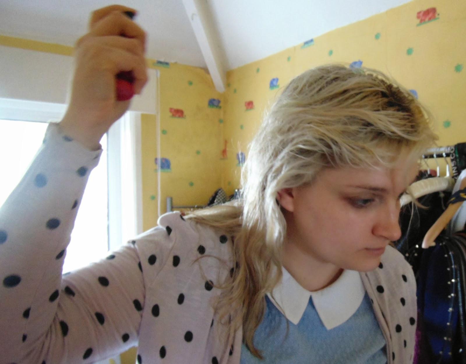 springtime hair style's heat protectant