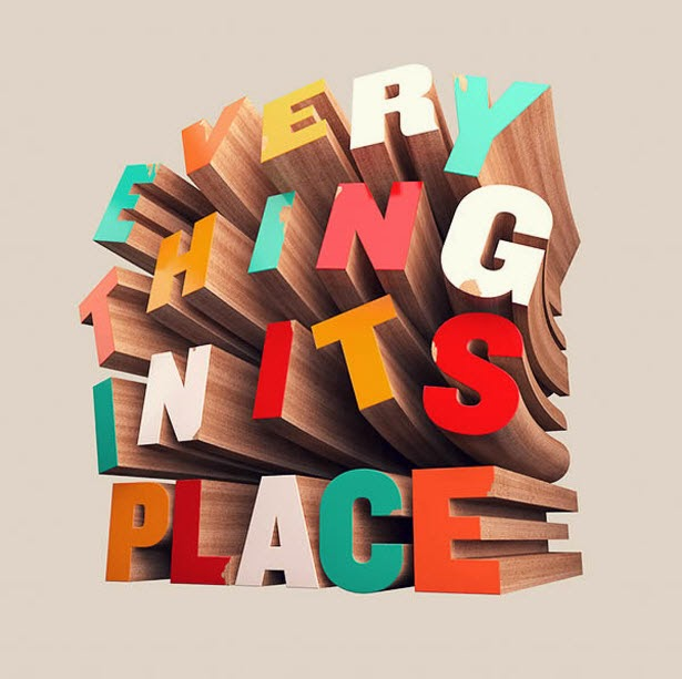 Colorful Wooden 3D Text