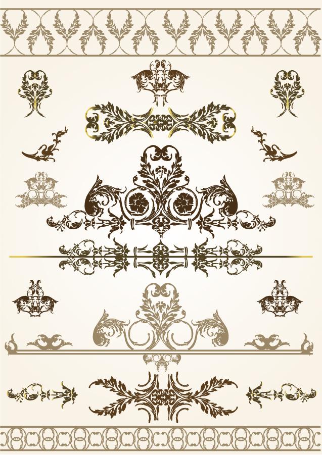 美しいレースパターンのボーダー exquisite lace pattern border イラスト素材