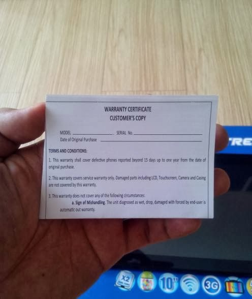 SKK Mobile Extreme Warranty Card