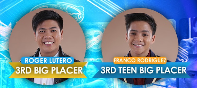 PBB 737 The Big Night Results Franco and Roger 3rd