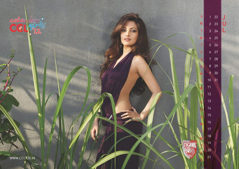 Calendar Girl Wallpaper : Kerala strikers celebrity cricket league ccl calendar