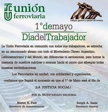 1º de Mayo Dia del Trabajador
