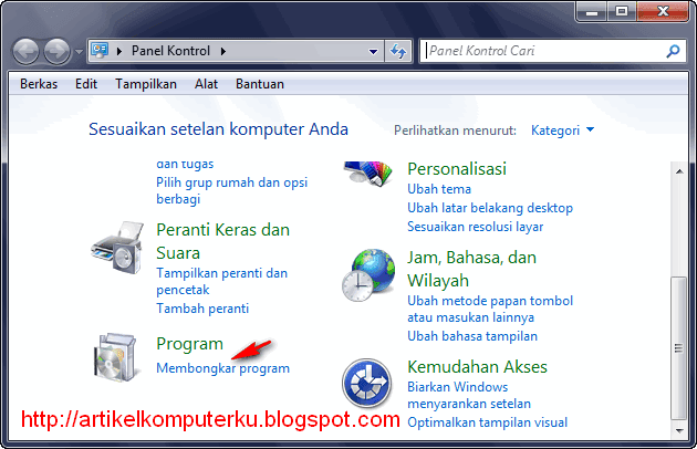 Uninstall Windows 7 Antarmuka Bahasa Indonesia