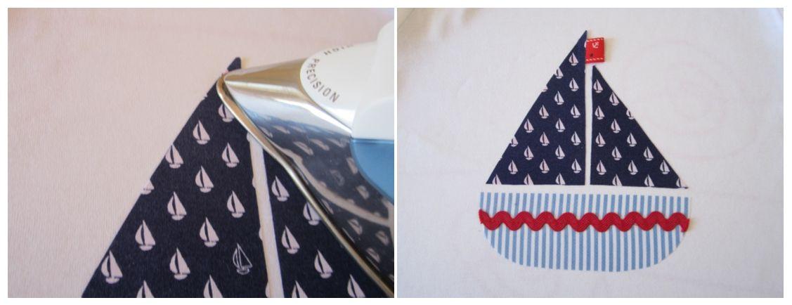 mis nancys, mis peques y yo, tutorial aplique camiseta planchar banderín