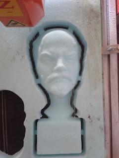 Lenin bust cnc router